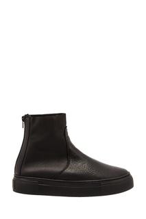 Черные ботинки смеховой подкладкой AGL