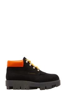 Черные ботинки с контрастной отделкой Acne Studios