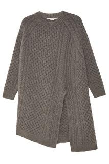 Удлиненный серый джемпер Stella Mc Cartney