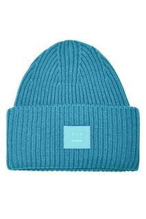Голубая шерстяная шапка Acne Studios