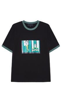 Черная хлопковая футболка с принтом Rushmore Yuzhe Studios