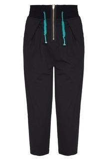 Черные брюки с широким поясом Pullstring Yuzhe Studios