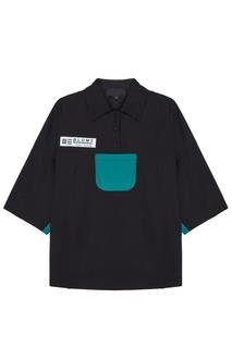 Черная рубашка с контрастным карманом Rushmore Yuzhe Studios