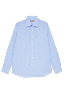 Голубая рубашка в клетку Canali