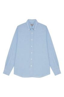 Голубая рубашка с длинными рукавами Canali