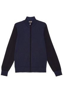 Комбинированный свитер на молнии Canali