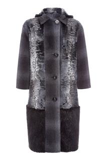 Однобортное пальто с меховой отделкой Color Temperature