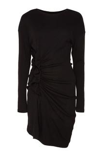 Черное платье со сборками Jeneth Isabel Marant Etoile