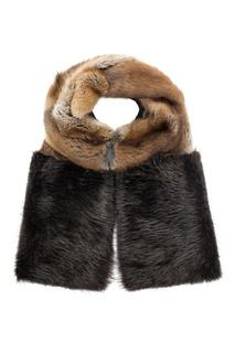 Комбинированный меховой шарф Color Temperature