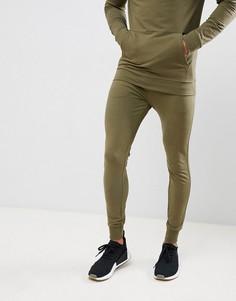Супероблегающие джоггеры цвета хаки New Look - Зеленый