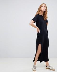 Платье-футболка макси ASOS DESIGN ultimate - Черный