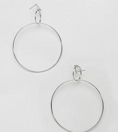 Серебристые серьги-кольца Missguided - Серебряный