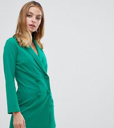 Зеленое платье-смокинг мини John Zack Petite - Зеленый