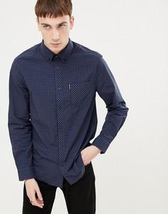 Приталенная рубашка в клеточку Ben Sherman - Синий