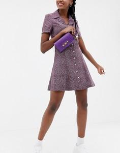 Фиолетовая сумка на пояс River Island - Фиолетовый
