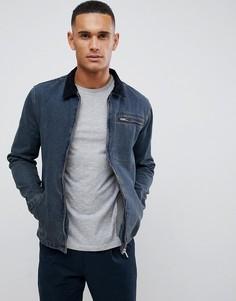 Джинсовая куртка с вельветовым воротником New Look - Синий