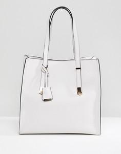 Розовая сумка-тоут с металлической отделкой Glamorous - Бежевый