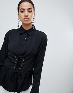 Рубашка с длинными рукавами AX Paris - Черный