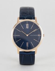 Часы с кожаным ремешком Tommy Hilfiger Cooper — 41 мм - Черный