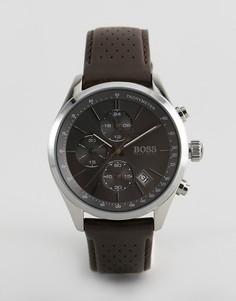 Часы с кожаным ремешком BOSS 1513476 Grand Prix - Коричневый