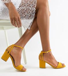 Босоножки для широкой стопы на блочном каблуке New Look Wide Fit - Желтый