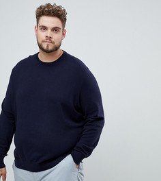 Темно-синий джемпер с круглым вырезом Burton Menswear Big & Tall - Темно-синий