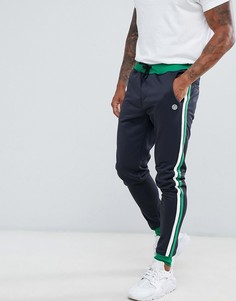 Комбинируемые спортивные штаны с полосками по бокам Blend - Темно-синий
