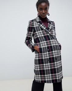 Шерстяное пальто в клетку Selected Femme - Мульти