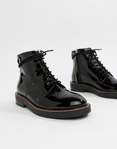Кожаные ботинки на шнуровке ASOS DESIGN Anarchy - Черный