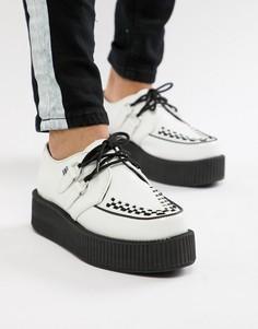 Белые кожаные ботинки T.U.K - Белый TUK
