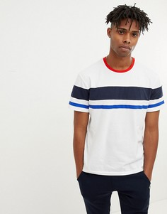 Oversize-футболка с полосой Jack & Jones Originals - Белый