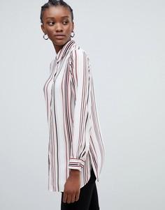 Блузка в полоску с воротником New Look - Белый