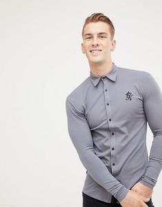 Темно-серая трикотажная рубашка с длинными рукавами Gym King - Серый