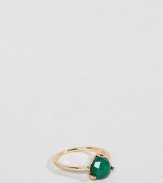 Кольцо с камнем изумрудного цвета DesignB London - Золотой
