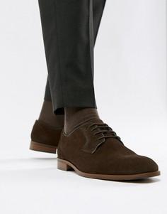 Коричневые замшевые туфли на шнуровке Dune - Коричневый