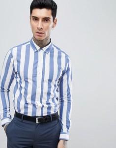 Рубашка в полоску Process Black - Темно-синий