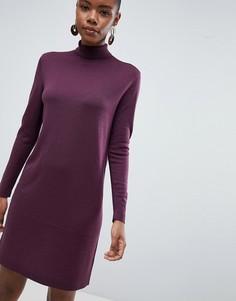 Шерстяное платье-водолазка Selected Meroni - Фиолетовый