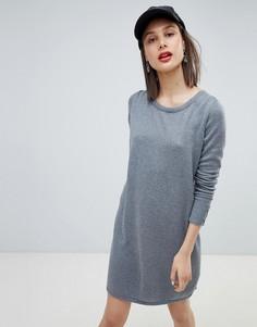 Трикотажное платье с круглым вырезом Esprit - Серый