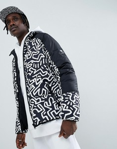 Черная двусторонняя дутая куртка Element x Keith Haring - Черный