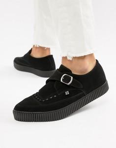 Остроносые туфли из искусственной кожи с пряжкой T.U.K - Черный TUK
