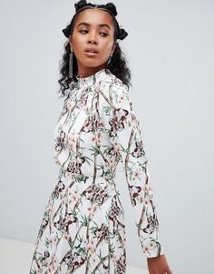 Блузка с принтом Ragyard - Белый