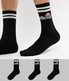 Набор из 3 пар черных носков ellesse Pullo - Черный