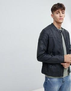 Байкерская куртка из искусственной кожи Esprit - Черный