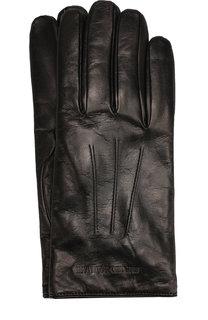 Кожаные перчатки Emporio Armani