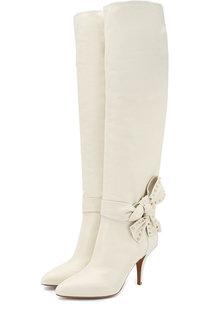 Кожаные сапоги Valentino Garavani Side Bow на шпильке Valentino