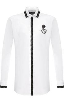 Хлопковая сорочка под смокинг Dolce & Gabbana