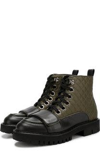 Комбинированные ботинки на шнуровке No. 21
