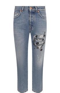Укороченные джинсы с принтом 7 For All Mankind