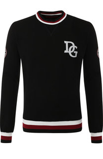 Хлопковый свитшот с логотипом бренда Dolce & Gabbana