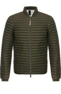 Стеганая куртка на молнии с воротником-стойкой Emporio Armani
